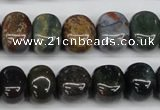 CNG44 15.5 inches 11*15mm nuggets Indian agate gemstone beads
