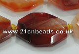 CNG446 15.5 inches 18*20mm – 30*42mm faceted nuggets agate beads
