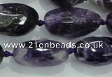 CNG476 15.5 inches 15*20mm - 25*35mm faceted nuggets amethyst beads