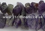 CNG5032 15.5 inches 8*25mm - 12*40mm nuggets amethyst beads
