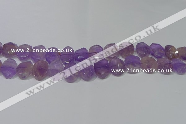 CNG5131 15.5 inches 15*18mm - 15*20mm faceted freeform ametrine beads