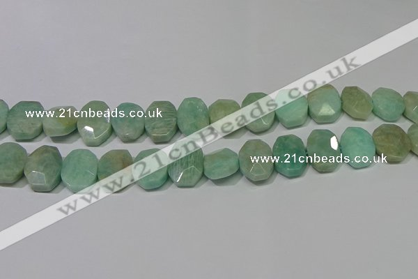 CNG5140 15.5 inches 15*18mm - 15*20mm faceted freeform amazonite beads