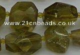 CNG5281 15.5 inches 12*16mm - 18*25mm faceted nuggets lemon quartz beads