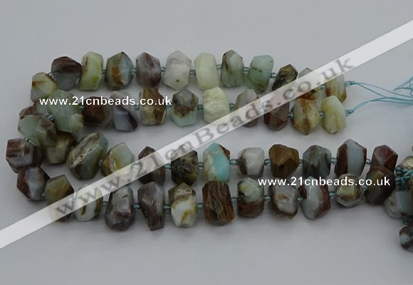CNG5336 15.5 inches 12*16mm - 15*20mm faceted nuggets blue opal beads