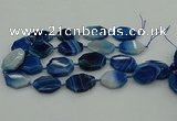 CNG5347 15.5 inches 25*35mm - 30*40mm faceted freeform agate beads