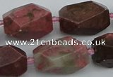 CNG5397 15.5 inches 12*16mm - 15*25mm faceted nuggets rhodochrosite beads