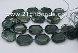CNG5419 20*30mm - 35*45mm faceted freeform green apatite beads