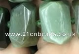 CNG5440 12*16mm - 15*20mm faceted nuggets Canadian jade beads