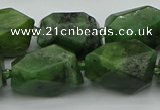 CNG5457 12*16mm - 15*25mm faceted nuggets Canadian jade beads