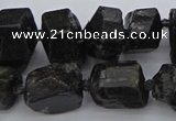 CNG5459 15.5 inches 12*16mm - 15*20mm nuggets black tourmaline beads