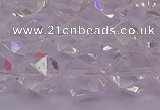 CNG5473 15.5 inches 10mm faceted nuggets white crystal beads