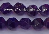 CNG5494 15.5 inches 12mm faceted nuggets amethyst gemstone beads