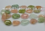 CNG5591 15.5 inches 22*28mm - 25*35mm faceted freeform morganite beads