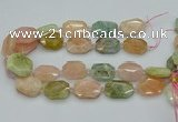 CNG5593 15.5 inches 20*25mm - 25*30mm faceted freeform morganite beads