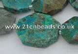 CNG5622 18*25mm - 22*30mm freeform chrysocolla gemstone beads