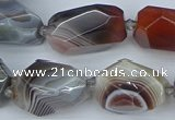 CNG5681 12*16mm - 15*25mm faceted nuggets botswana agate beads