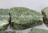 CNG570 25*30mm - 30*40mm nuggets serpentine jasper beads