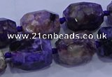 CNG5710 15.5 inches 12*16mm - 13*18mm faceted nuggets charoite beads
