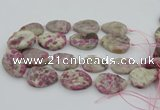 CNG5745 15.5 inches 25*35mm - 30*40mm freeform pink tourmaline beads