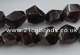 CNG5755 15.5 inches 10*14mm - 12*16mm faceted nuggets garnet beads