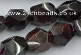 CNG5756 15.5 inches 13*18mm - 15*20mm faceted nuggets garnet beads