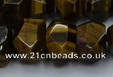 CNG5771 12*16mm - 13*18mm faceted nuggets yellow tiger eye beads