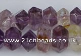 CNG5781 10*14mm - 12*16mm faceted nuggets amethyst beads