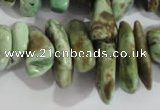 CNG579 15.5 inches 8*20mm nuggets african turquoise chips beads