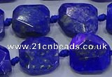 CNG5815 15.5 inches 10*12mm - 10*14mm faceted freeform lapis lazuli beads
