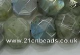 CNG5874 15.5 inches 8*12mm - 12*16mm faceted freeform labradorite beads