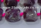 CNG5886 15.5 inches 10*12mm - 10*14mm faceted freeform tourmaline beads