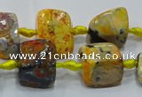 CNG6001 15.5 inches 12*16mm - 15*18mm nuggets agate beads