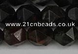 CNG6048 15.5 inches 12mm faceted nuggets plum blossom jade beads