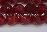 CNG6088 15.5 inches 8mm faceted nuggets red agate beads