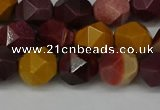 CNG6106 15.5 inches 8mm faceted nuggets mookaite gemstone beads