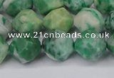 CNG6192 15.5 inches 10mm faceted nuggets Qinghai jade beads