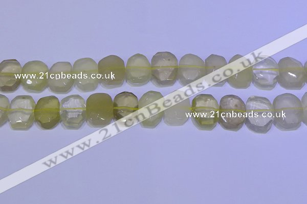 CNG6304 15.5 inches 13*18mm - 15*20mm faceted freeform lemon quartz beads