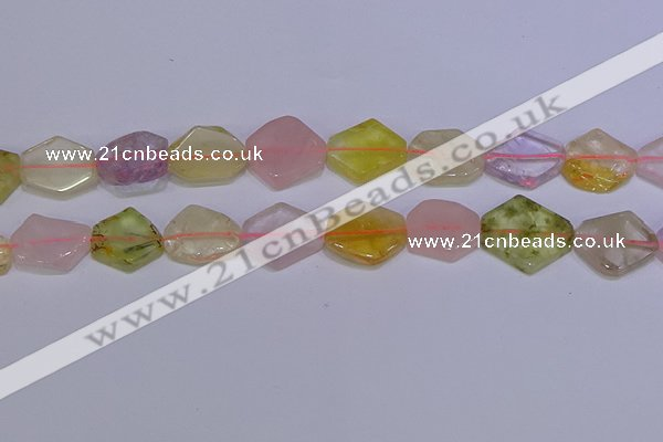 CNG6338 15.5 inches 14*18mm - 16*22mm freeform mixed quartz beads