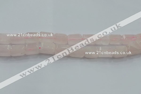 CNG6403 15.5 inches 15*20mm faceted nuggets rose quartz beads