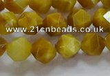 CNG6531 15.5 inches 8mm faceted nuggets golden tiger eye beads