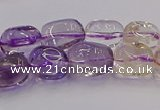 CNG6859 15.5 inches 8*12mm - 10*14mm nuggets amethyst & citrine beads