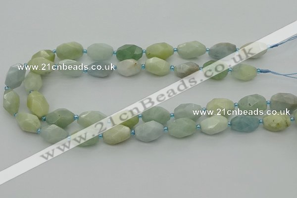 CNG6919 15.5 inches 12*16mm - 13*18mm faceted nuggets aquamarine beads