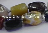 CNG6937 12*16mm - 15*20mm faceted nuggets mixed Botswana agate beads