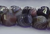 CNG6939 12*16mm - 13*18mm faceted nuggets Botswana agate beads