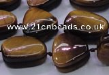 CNG696 15.5 inches 13*18mm - 15*16mm freeform yellow tiger eye beads