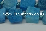 CNG7005 15.5 inches 14mm - 16mm freeform druzy agate beads