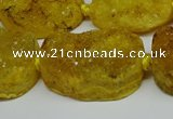 CNG7022 15.5 inches 20*28mm - 25*35mm freeform druzy agate beads
