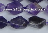CNG7132 15.5 inches 6*10mm - 10*14mm faceted nuggets amethyst beads