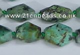CNG7138 6*10mm - 10*14mm faceted nuggets African turquoise beads
