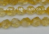 CNG7236 15.5 inches 8mm faceted nuggets citrine beads wholesale